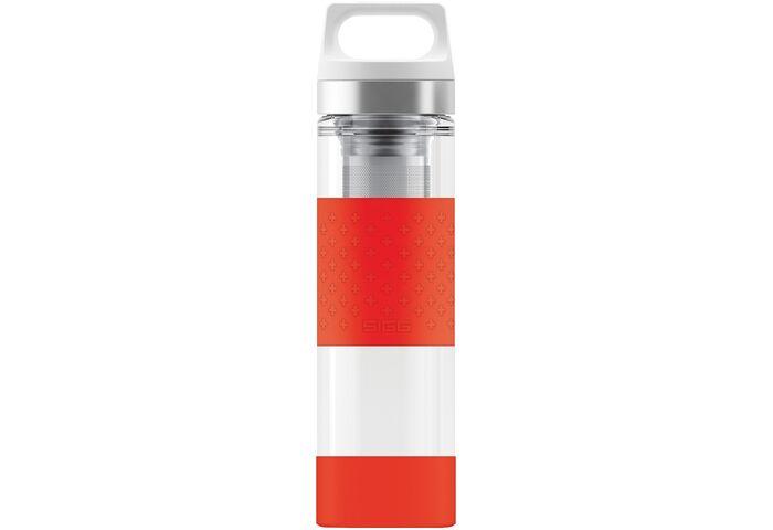 Термофляга Sigg Hot & Cold Glass Wide Mouth Bottle Red 0.4 L