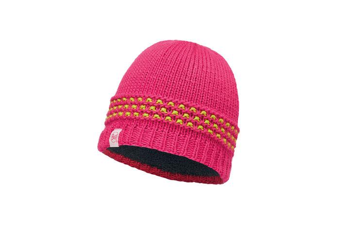 Детская шапка Buff Junior Knitted & Polar Hat Jambo Pink Azalea