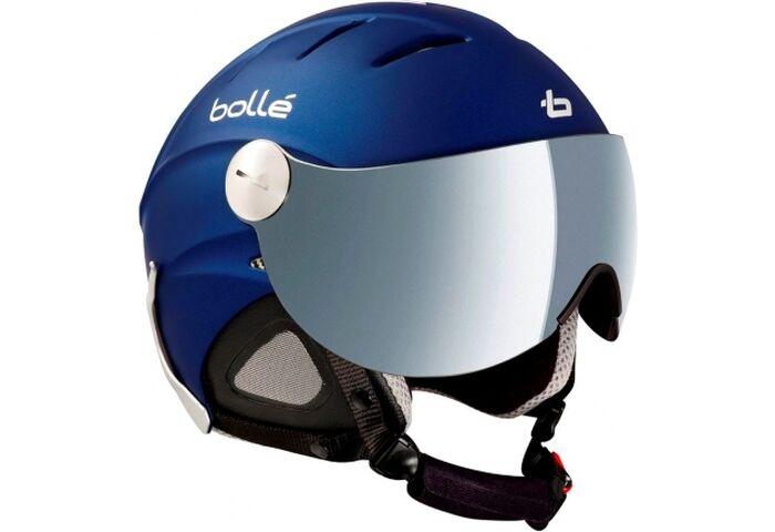 Шлем Bolle Slide Visor Matt Night Blue w Grey Flash/ Yellow 60