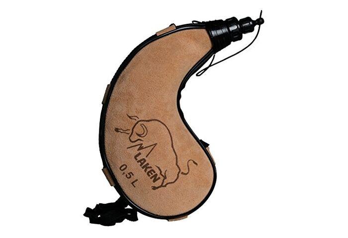 Фляга Laken Leather canteen 0.5 L kidney shape