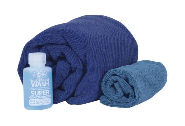 Набор полотенец Sea To Summit Tek Towel Wash Kit M + туристическое мыло