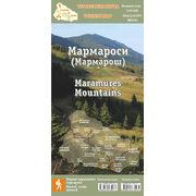 Туристична карта Стежки та Мапи Мармароси ламінована