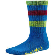 Детские термоноски Smartwool Kids' Striped Hike Light Crew Socks